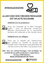 Affiché crémier fromager solidaire